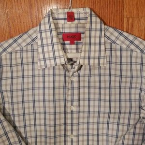 Hugo Boss large plaid shirt